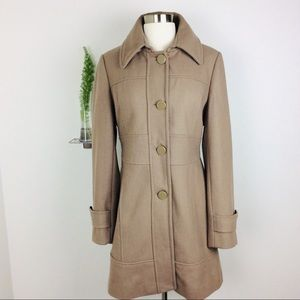 Women's Kenneth Cole Stylish Brown Wool Trenchcoat
